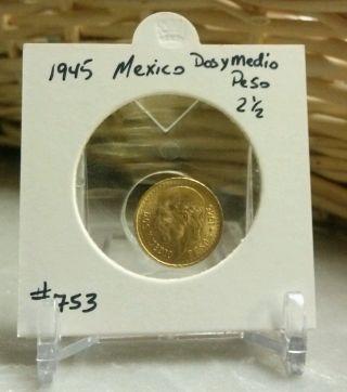 1945 Mexico Gold Dos Y Medio photo