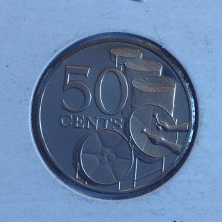 1973 Trinidad & Tobago 50 Cents Proof photo