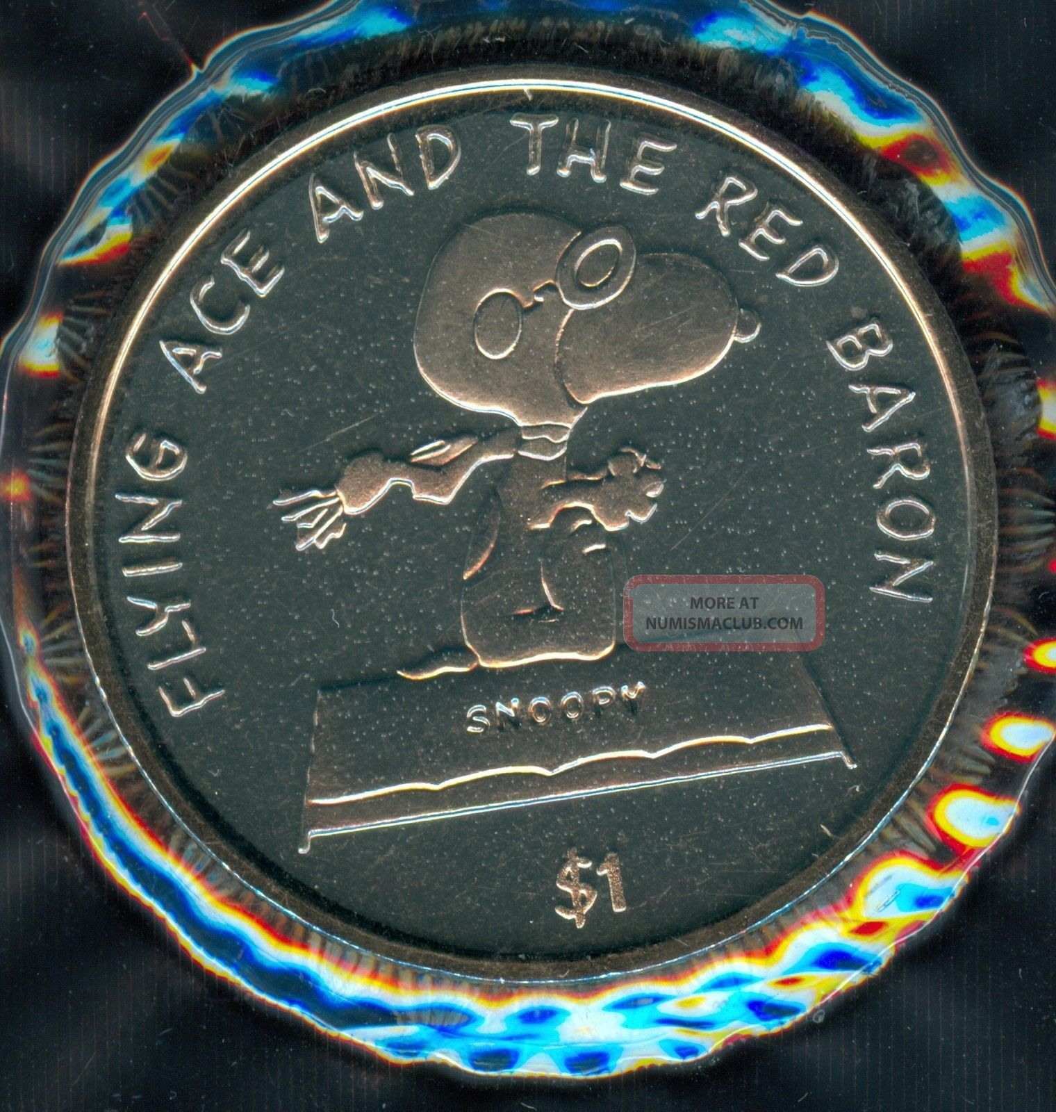 2001 Niue Snoopy Flying Ace Dollar Coins: World photo