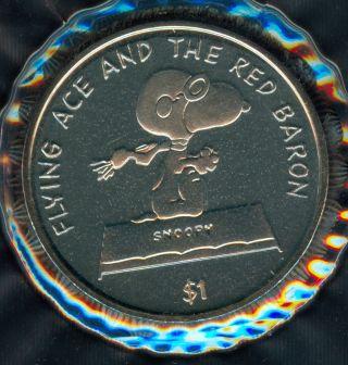 2001 Niue Snoopy Flying Ace Dollar photo