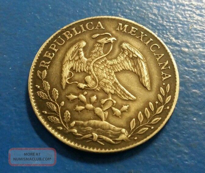 1894 Republica Mexicana 8r A 10d 20g Silver Coin
