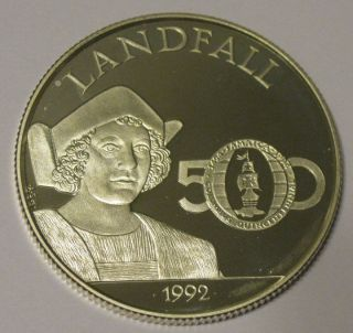 Jamaica - 1992 Large Silver $25 Columbus Proof Coin photo