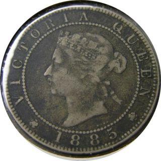 Elf Jamaica 1 Penny 1885 Victoria photo