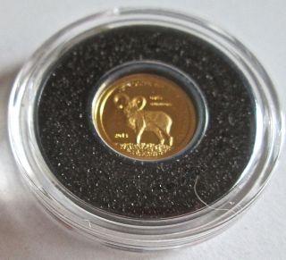 Gold Mongolian 500 Togrog Coin photo