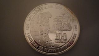Honduras 100 Lempiras,  1992,  500th Anniversary - Discovery Of America Silver photo