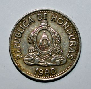 1980 Honduras 10 Centavos Diez De Lempira Coin World Foreign Z photo