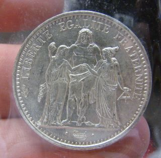 1968 French 10 Francs Coin - - Unc.  - - - -.  900 Silver - - - - - - - Devils 1 Day photo