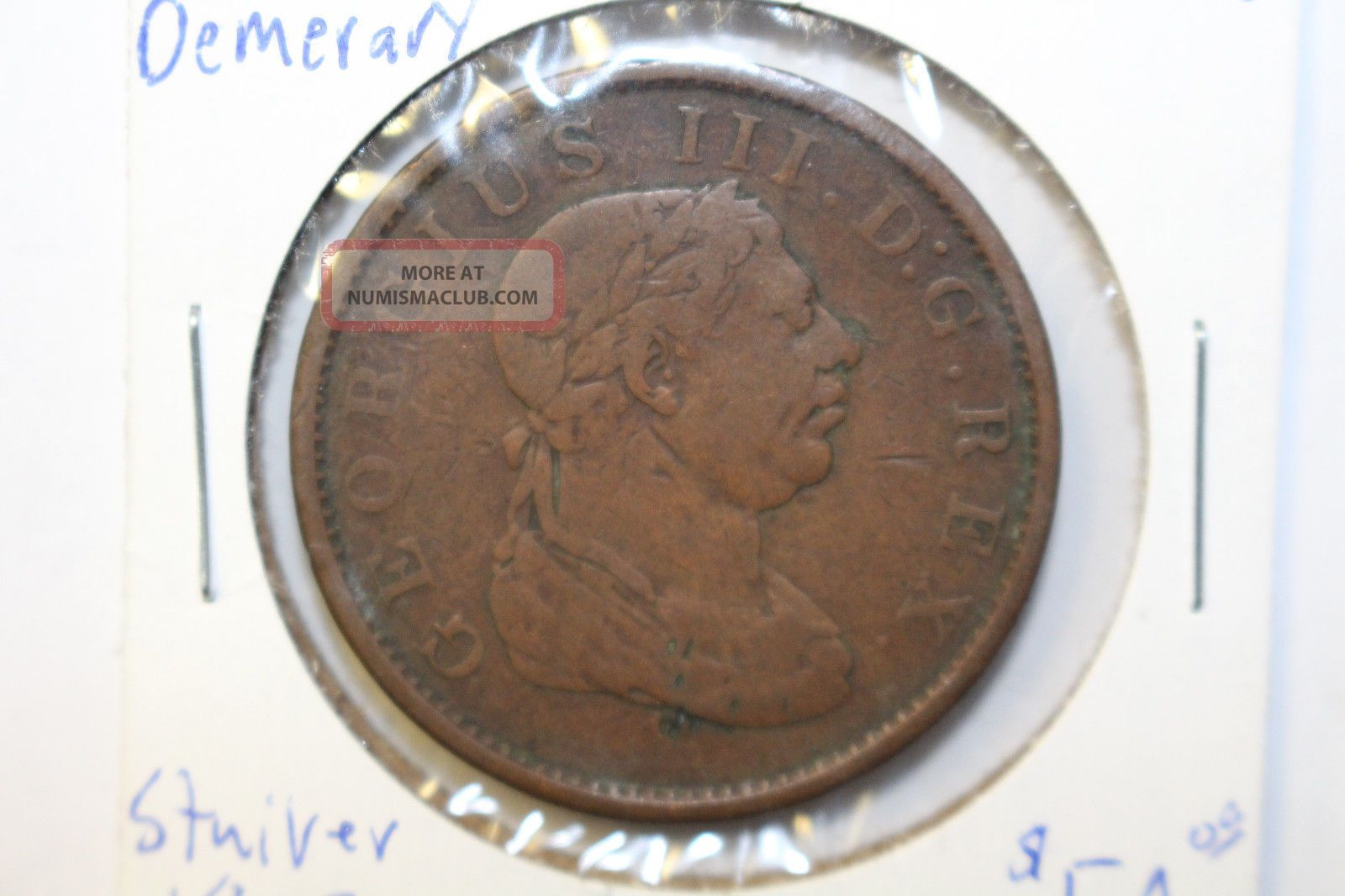 1813 Essequido & Demerary Stuiver Token Km 10 To Usa South America photo