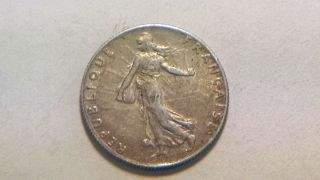 1911 Cirulated Francaise Silver 50 Centimes photo