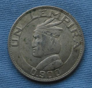 1932 Un Lempira Republica De Honduras 0.  900 Silver Coin (1) photo