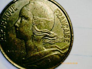 1,  10 Centimes 1996 Coin.  Republique Francaise. photo