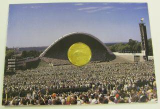 Estonia 1 Kroon 1999 - Brass - Folder 1157 photo