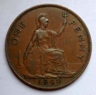 L45 Uk Great Britain Penny,  1940 Ww2 Wwii (b) photo