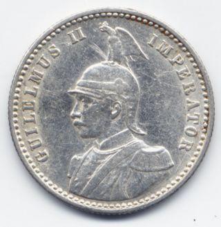 German East Africa: Deutsch Ostafrika.  1/4 Rupee/rupie 1910 J (hamburg) photo