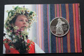 Latvia 1 Lats 2008 Latvian Song Festival With Special Folder photo