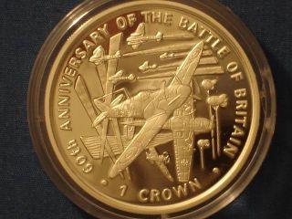 Isle Of Man 1 Crown Silver Proof 2000 World War Ii - The Battle Of Britain photo