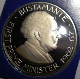 1976 Jamaica 1 Dollar,  Alexander Bustamante,  Proof Coin photo