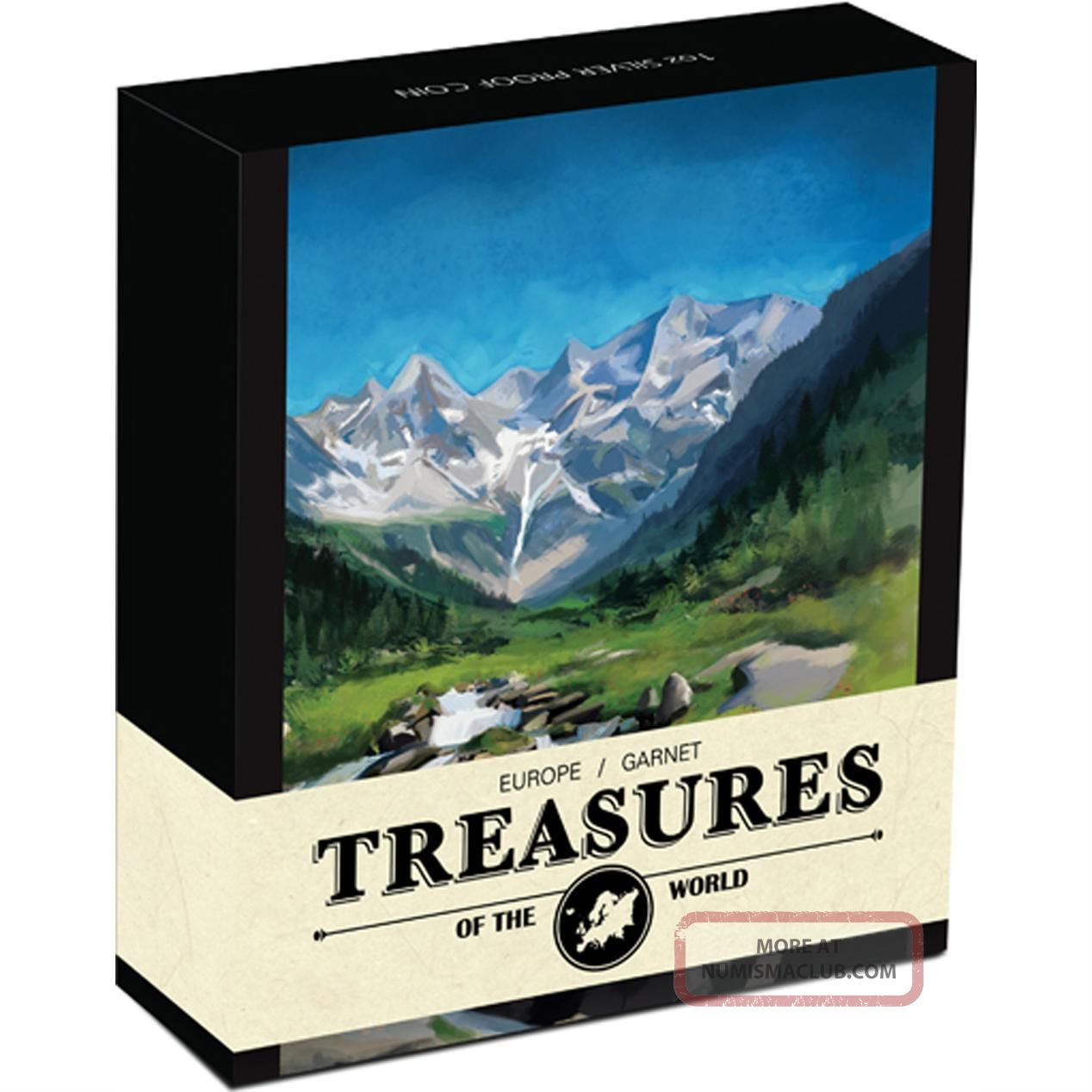 Treasures Of The World Europe 2013 1oz Silver Proof