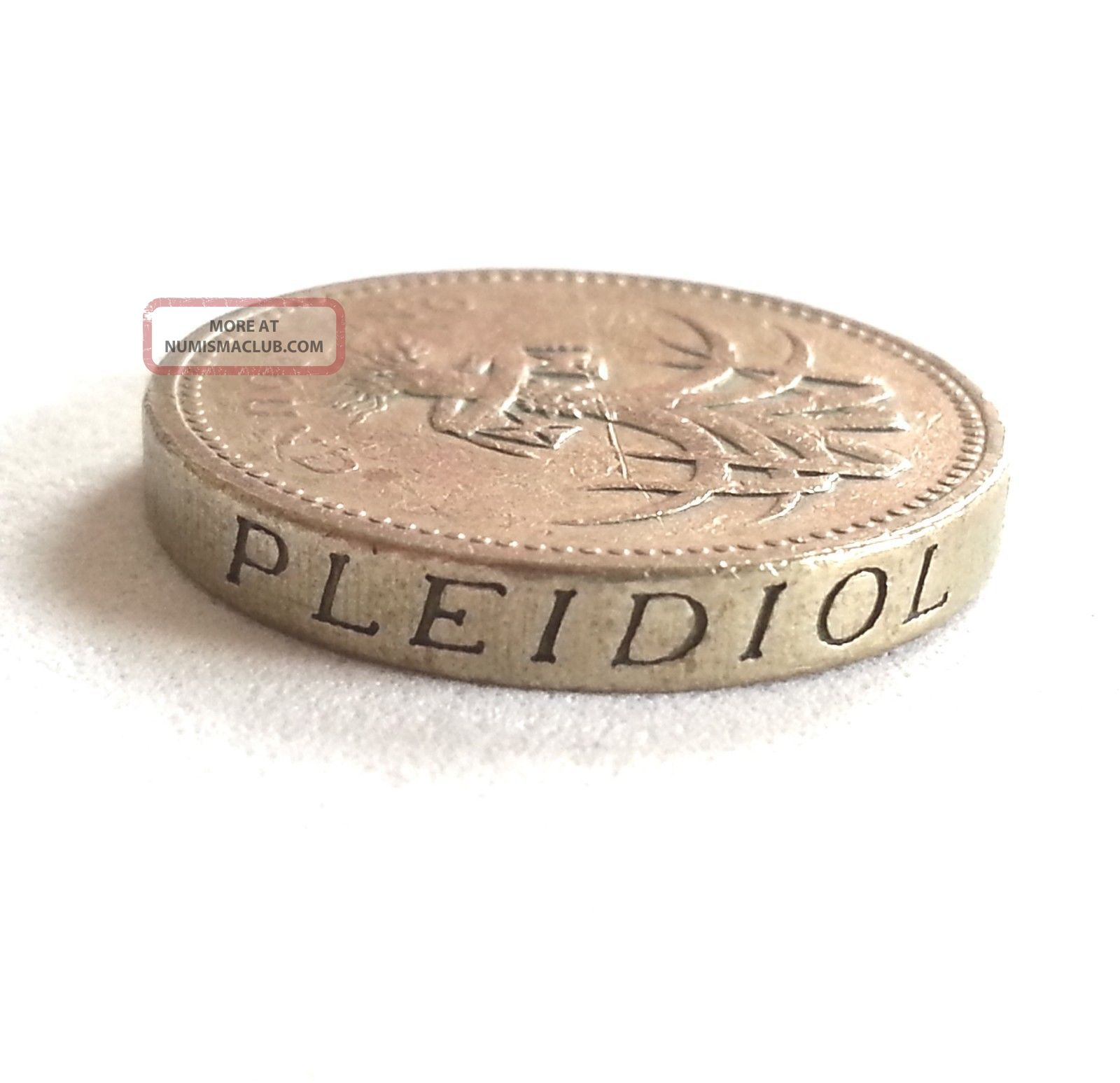 1985 One Pound 1 Silver Coin Elizabeth 2 I ' M Gwlad Uk Gbp Great Britain Europe UK (Great Britain) photo