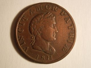 Uk 1811 Essex Walthamstow Copper Halfpenny Condor Token
