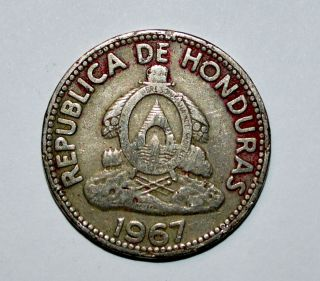1967 Honduras 10 Centavos Diez De Lempira Coin World Foreign Z photo