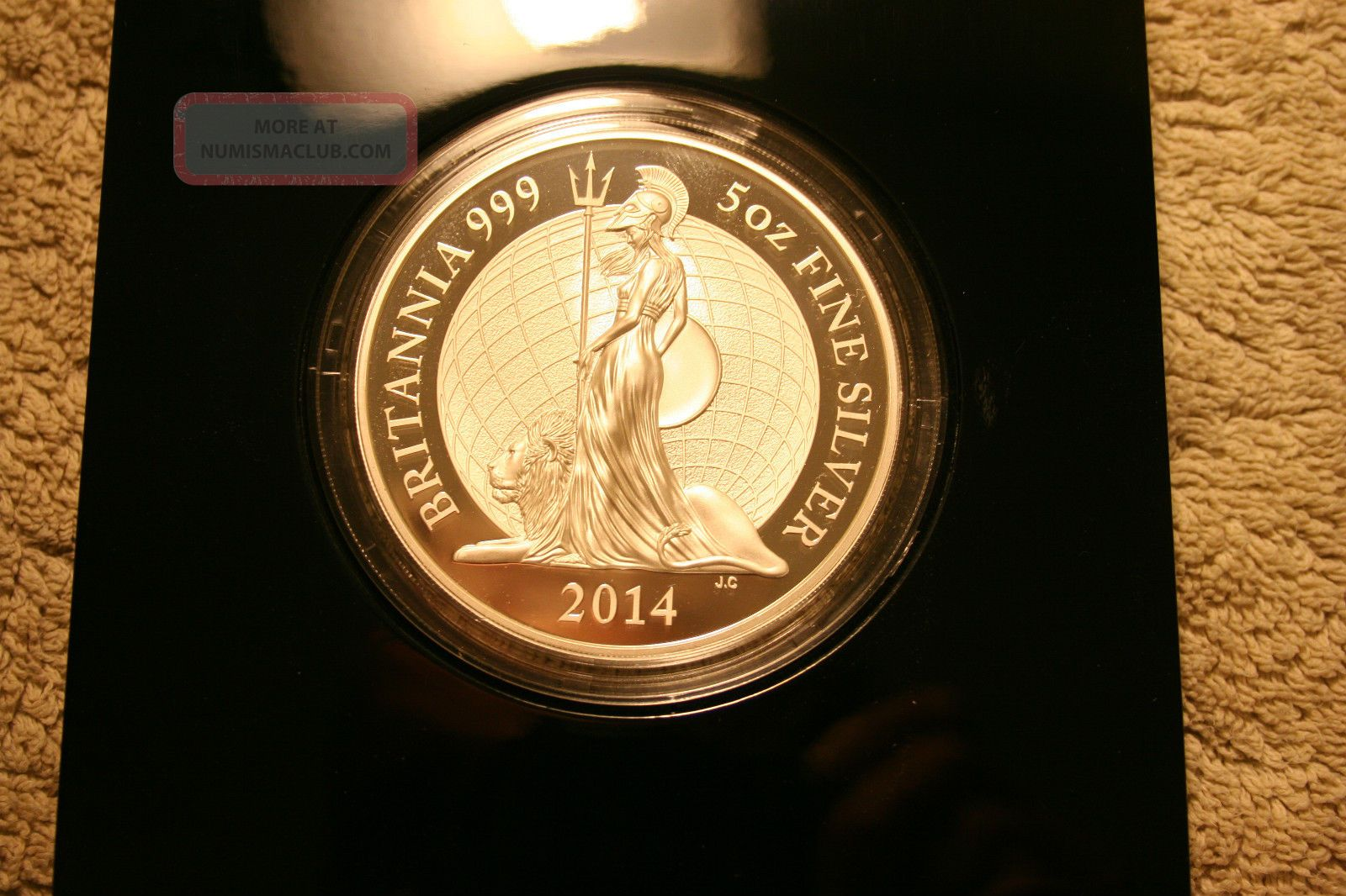 The Britannia 2014 Five Ounce Silver Proof High Relief
