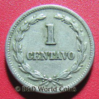 El Salvador 1940 Un One 1 Centavo Francisco Morazan Collectable Coin 16mm Cu - Ni photo