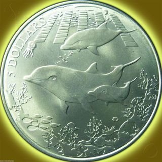 2014 Titanium Dolphin,  British Virgin Islands Pobjoy Coin photo