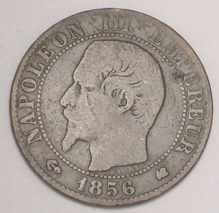 1856 France French 5 Centimes Napolean Eagle Coin F, photo