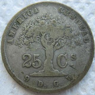 1864 Gw Costa Rica 25 Centavos photo