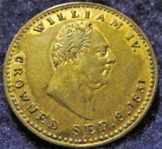 1831 - King William Iv - By Trampling On Liberty I Lost The Reins Medal - Xf - Au photo