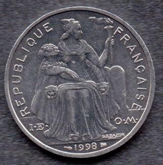 1998 French Polynesia : Coin photo
