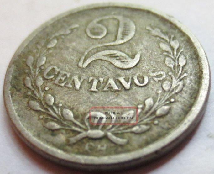 Colombia 1921 Leprosarium Leper Colony 2 Centavos Coin Token Very Fine