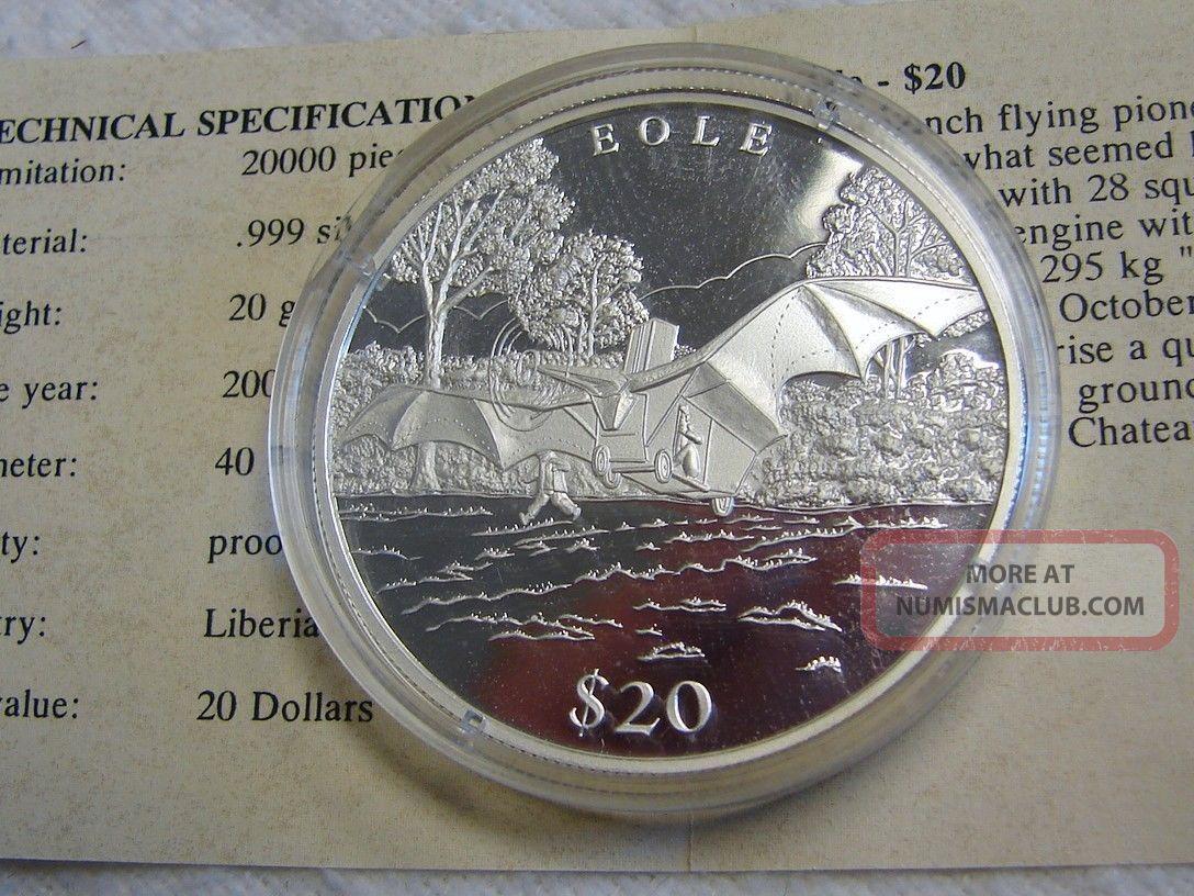 Commemorative French Bole Proof Silver Coin - - 20 Grams.  999 Silver W/coa Coins: World photo