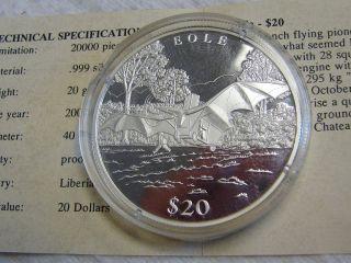 Commemorative French Bole Proof Silver Coin - - 20 Grams.  999 Silver W/coa photo