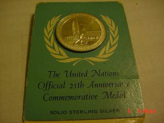 The United Nations Sterling Silver 25/th Anniversary Nedal photo