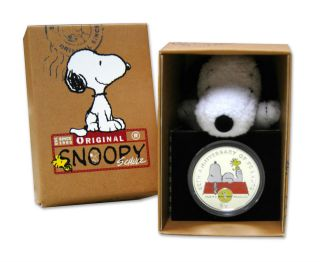 Snoopy - 60th Anniversary Of Peanuts Coin British Virgin Islands 2010 photo