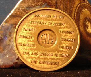 Alcoholics Anonymous 18 Year Vintage Aa Back Medallion Coin Token photo