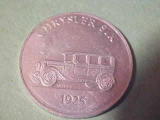 Medal/token Antique Car Chrysler Six 1925 26 Mm Aluminum Sunoco 1969 Car Coin photo
