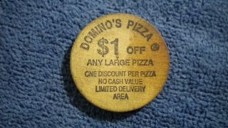 Domino ' S Pizza Wooden Coupon Coin From Colorado photo