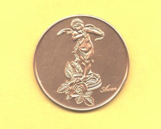 Cupid Standing With Bow 1975 Amor Love Token photo