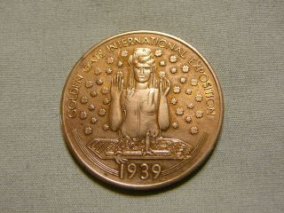 Rare 1939 Golden Gate Exposition World ' S Fair Token - Milens Jewelers photo