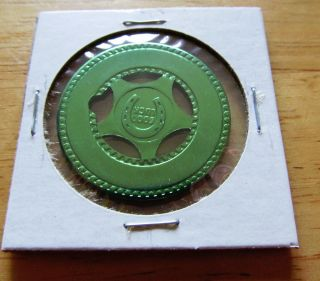 Good Luck Horseshoe 4 Leaf Clover Star Die Cut Aluminum Green Good Luck Token photo