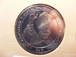 Seychelles 5 Rupees,  2005,  John Paul Ii Memorial,  C/n,  Uncirculated photo