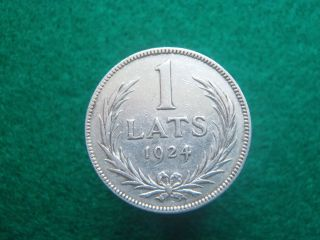 1 Lat 1924 Latvia Old Silver Coin photo