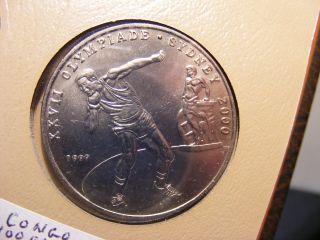 Congo Republic 100 Francs,  1999,  Xxvii Olympiade,  Uncirculated photo