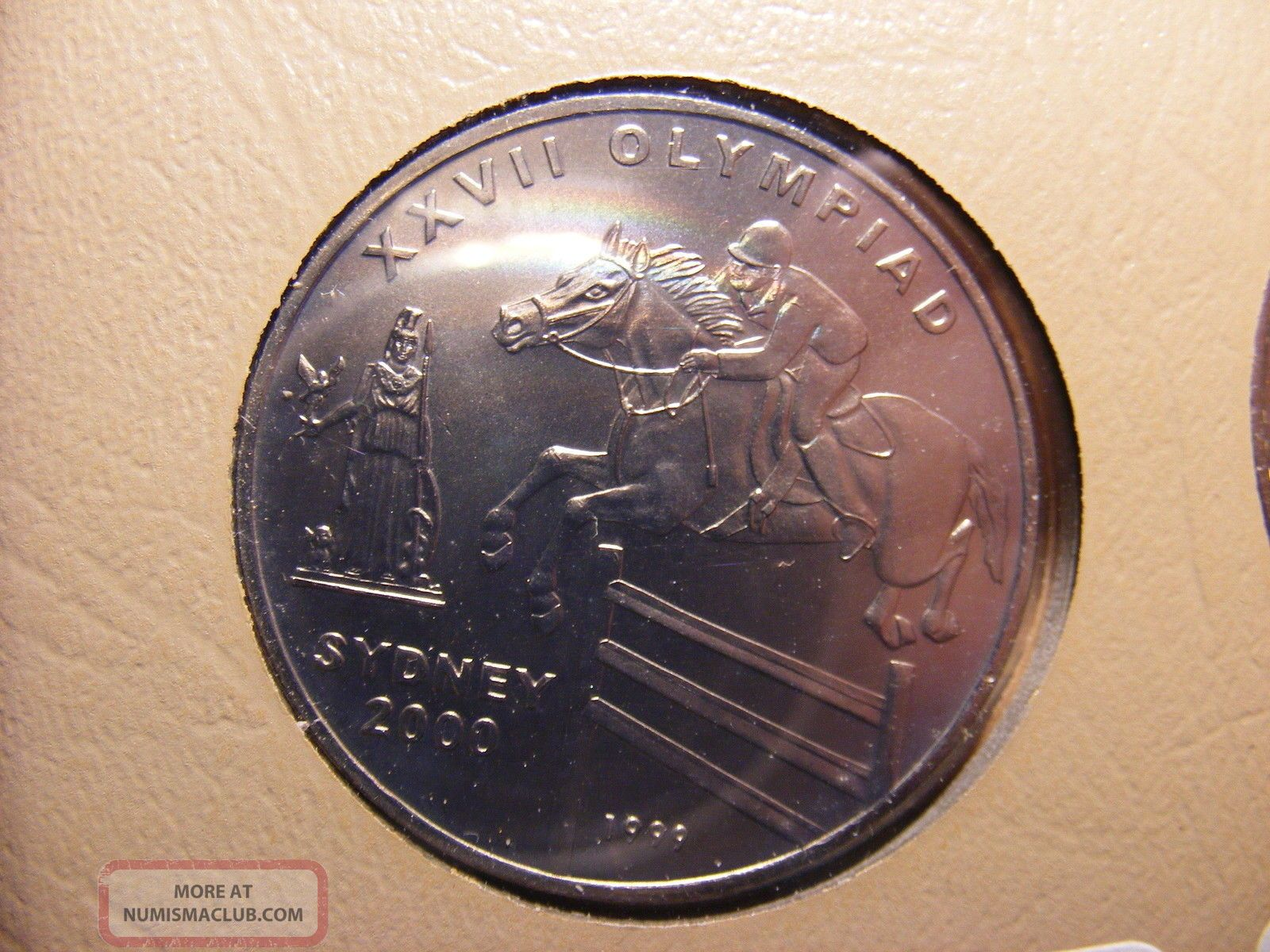 Afghanistan 50 Afghanis,  1999,  Sydney Olympics 2000,  Uncirculated - 10k Minted Middle East photo