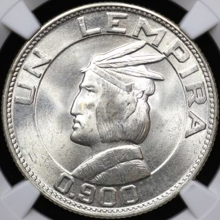 1937 Ngc Ms - 63 One 1 Lempira Honduras photo