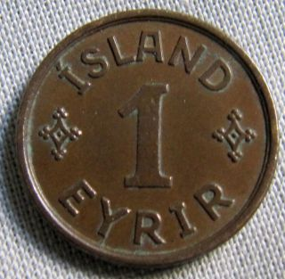 Iceland 1926hcn - 1 Eyrir photo