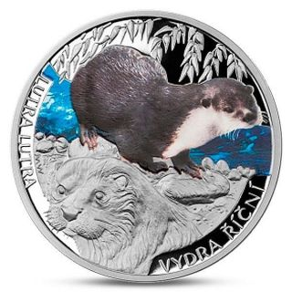 Niue 1 Dollar Silver Otter Lutra Proof 2013 photo